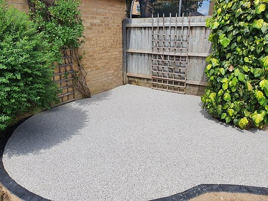 Small Resin Patio Area