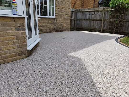 Close up of Resin Bound Patio