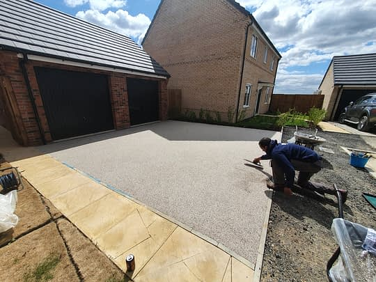 Resin Being Installed in Crowland