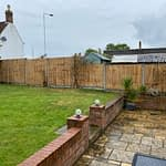 Featheredge Fencing Panels installed in Werrington Peterborough