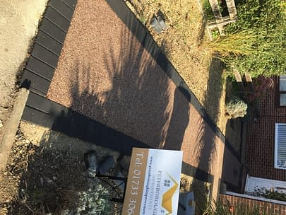 Resin Pathway with Block Border