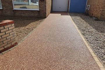 Resin Bound Driveway completed in March Cambridgeshire