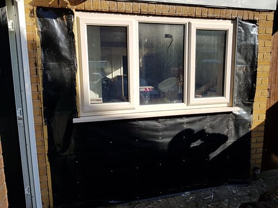 Wood Cladding Removed
