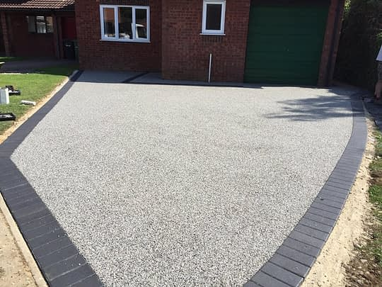 Werrington Driveway finished in Silver