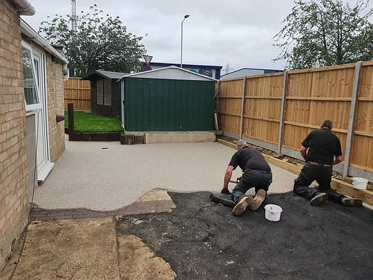 Resin Bound Patio being Laid