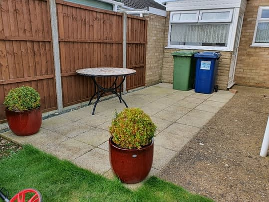 Before Resin Patio in Whittlesey