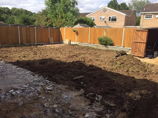 New Top Soil to Lift Garden for New Turf