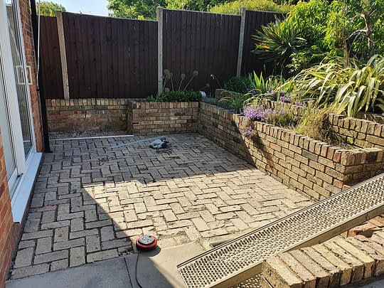 Before Resin Patio installed