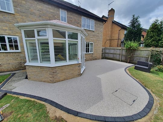 Shaped Resin Patio Area